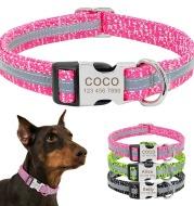 Dog Collar Pet Tag Puppy Cat Nameplate ID Collars Adjustable