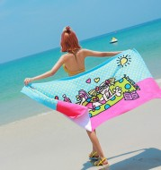 Swimming absorbent towel