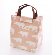 Cotton linen insulation bag