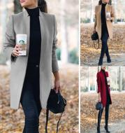 Long Wool Coat Warm Elegant Winter Coat Female Plus Size