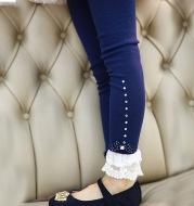 Lovely Bow Ruffled Laced Bottom Leggings