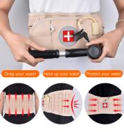 Waist Air Traction Brace Belt Spinal Lumbar Support Back