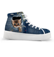 Custom Images or Logo Women Casual Shoes Classic High Top