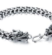 S925 silver bold domineering men's faucet bracelet