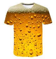 Beer Cola Bubble Print T-Shirt