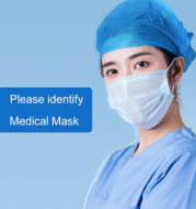 Perfessional Medical Mask Disposable 3-Ply Face Mask Antiviral Medical Surgical Dental