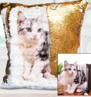 Custom image sequin pillowcase