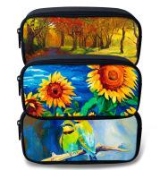 Cusomtized Pattern Pencil Case fashion Stationery Bag Canvas Pen Bag