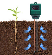Three in one soil detector