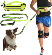 Pet Waist Bag Sports Traction Rope Reflective Waterproof Running Traction Rope