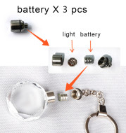 LED light and battery