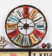 American retro iron wall clock