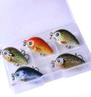 Mini Crankbait fishing lures 2.7CM 1.5G bait boxed Set