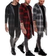 Men's windbreaker mid-length lapel trench coat