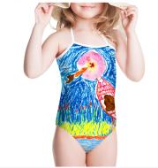 One-pieces Children's Swimwear Bathing Suit Printing Girls' Swimsuit Summer Baby Bodysuits