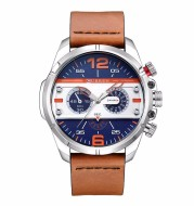 Large dial personalized stylish men's watch
