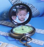 Pocket watch old fashion silver dark gold watch Nostalgia watch