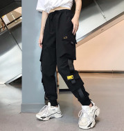 Hong Kong style beam foot sports overalls female students