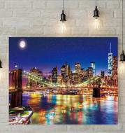 5D Diamond Painting - New York night bridge