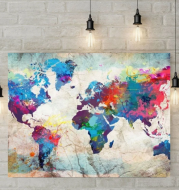 5D Diamond Painting - Colorful world map