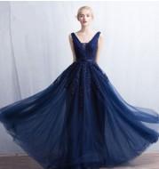 Fashion ladies slim banquet evening dress