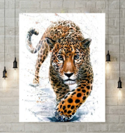 Leopard diamond painting