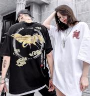 Hip hop street chinese style crane short sleeve