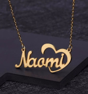 Personalized Name Rose Gold Clavicle Necklace