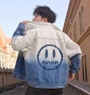 Hip-hop Gradient Tide Brand Denim Jacket