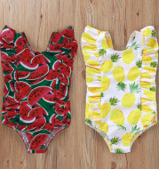 Printed Sleeve One-Piece Swimsuit