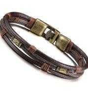 Retro Men's Braided Leather Bracelet
