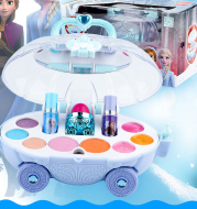 Girl Frozen Princess Makeup Box Toy Lipstick Birthday Gift