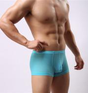 Men's ice silk underwear U convex bag breathable  thin boxer
