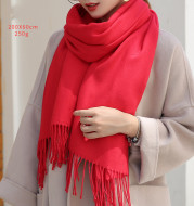 Chinese red imitation cashmere wool scarf