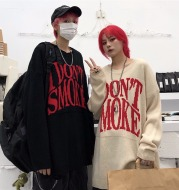 Loose lazy pullover sweater sweater couple