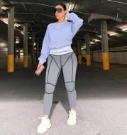 New letter printed high waist hip bottom leggings