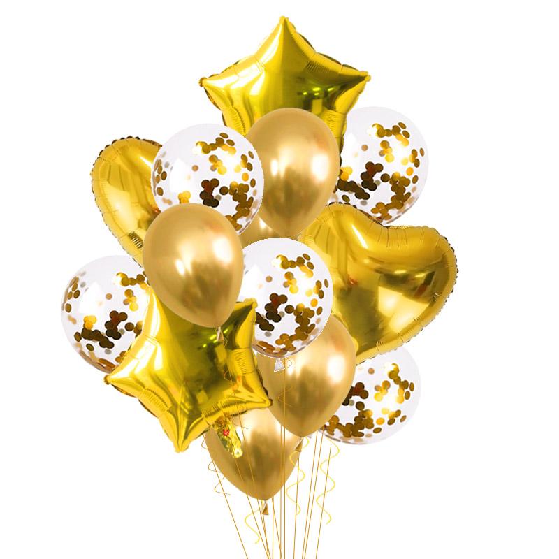 Party Birthday Pentagram Balloons Set