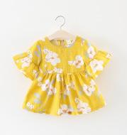 Solid color flower ruffle skirt children's clothing
