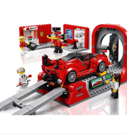 Racing car building block assembly toy