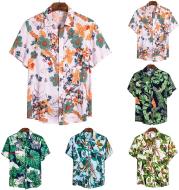 Short-Sleeve Hawaiian-Tops
