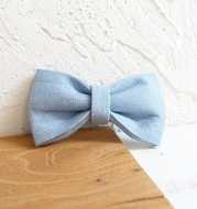 blue Pet bow double layer dog