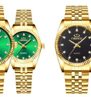 Golden couple watch men