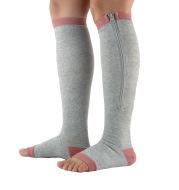 Zipper pressure socks