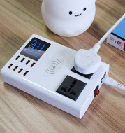 USB wireless charger for mobile phones