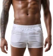 Men's casual low waist pocket large size boxer shorts