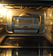 Electric oven rotating grill drum