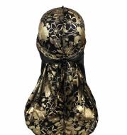 Rose imitation silk long tail pirate hat