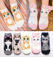Breathable cotton socks