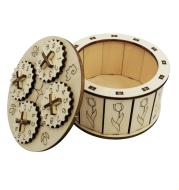 Wooden mechanical transmission model code lock box