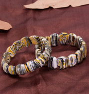 Golden zebra pattern original malachite bracelet
